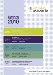 Seminarprogramm 2010 der Freiwilligenakademie - Kolping Europa