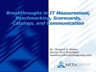 Breakthroughs in IT Measurement, Benchmarking ... - Boston SPIN