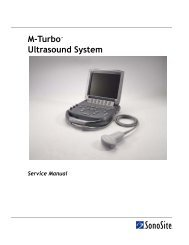 M-Turbo Ultrasound System Service Manual - SonoSite
