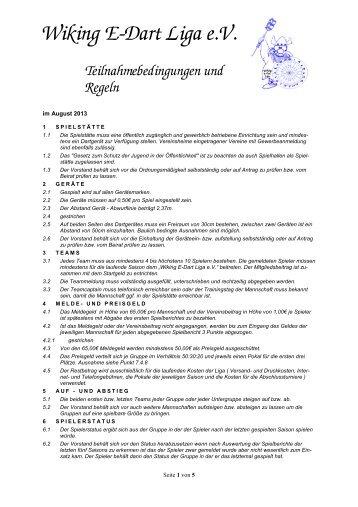 Teilnahmebedingungen und Regeln Stand August 2012 - Wiking-Liga
