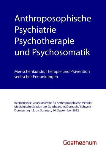 Arbeitsgruppen - Medizinische Sektion am Goetheanum