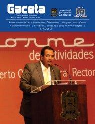 Gaceta Mayo Junio.cdr - Universidad Autónoma de Coahuila