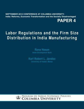paper 4 - Program on Indian Economic Policies - Columbia University
