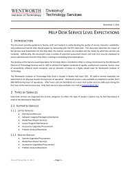 help desk service level expectations - Wentworth Institute of ...