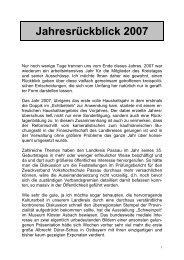 Jahresrückblick 2007 - Landkreis Passau