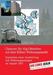 Chancen für Alg2-Bezieher auf dem Kölner Wohnungsmarkt