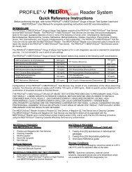 PROFILE®-V Reader System - Medtox
