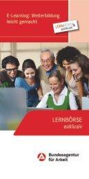 Flyer Lernboerse - Zukunft im Beruf