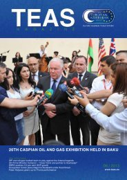 20th caspian oil and gas exhibition held in baku 06 / 2013 - TEAS