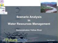 Scenario Analysis in Water Resources Management ... - FutureWater