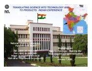 TRANSLATING SCIENCE INTO TECHNOLOGY ... - Venture Center