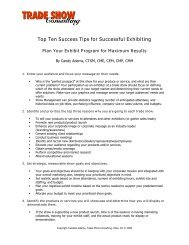 Top Ten Success Tips for Successful Exhibiting
