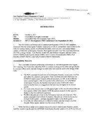 Groundfish Plan Development  Team call summary dated October