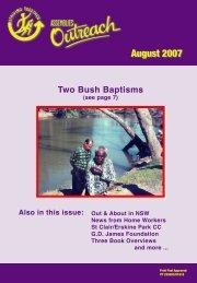 Two Bush Baptisms - Christian Brethren in NSW
