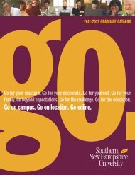 2011-2012 graduate catalog - SNHU Academic Archive - Southern ...