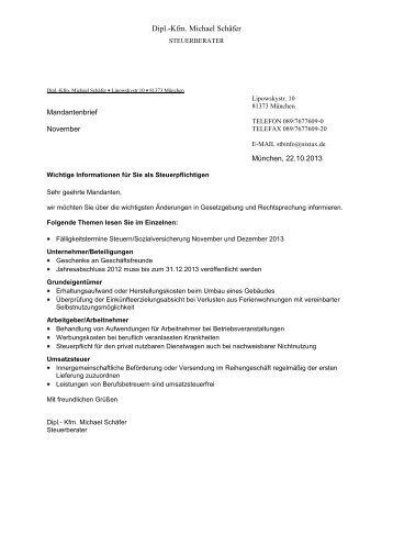 DiplKfm Michael Schrder  Steuerberater