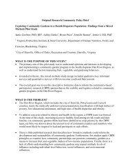Community Brief - Dan River Partnership for a Healthy Community