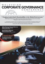 CORPORATE GOVERNANCE - Asian Strategy & Leadership Institute