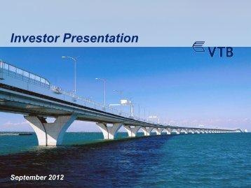 VTB Investor Presentation