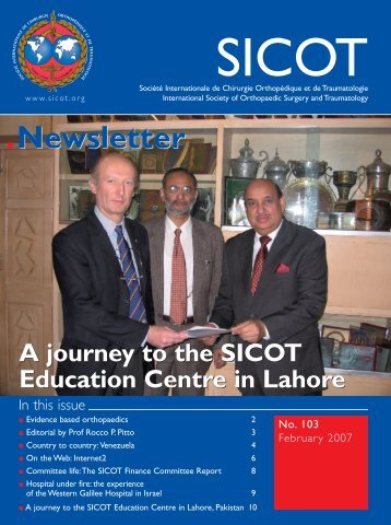 February 2007 issue of the SICOT newsletter (No. 103)