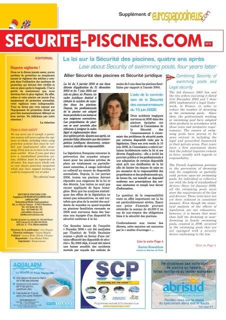 SECURITE-PISCINES.COM N°6 - Eurospapoolnews.com