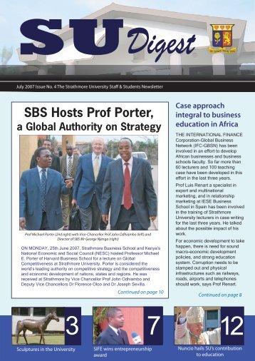 SU Digest Issue No 4 - Strathmore University