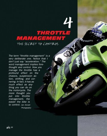 THROTTLE MANAGEMENT - Whitehorse Gear