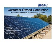 Customer Owned Generation - American Public Power Association