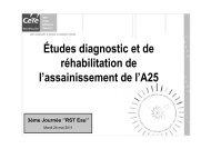 Diagnostic et réhabilitation d'un réseau d'assainissement sur l'A25