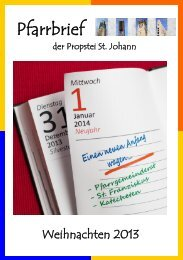 Pfarrbrief - Propstei St. Johann - Bistum Essen