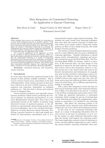 Data Integration via Constrained Clustering: An Application to ...