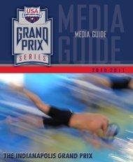 Indianapolis Grand Prix Media Guide - USA Swimming
