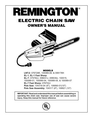 20 free Magazines from REMINGTONCHAINSAW.COM