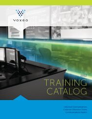 Voxeo University Training Catalog