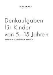 Denkaufgaben für Kinder von 5—15 Jahren - IMAGINARY