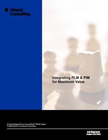 Integrating PLM & PIM for Maximum Value - Hitachi Consulting