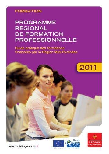 la formation professionnelle - Région Midi-Pyrénées