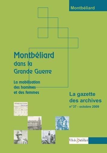 Gazette n°37 - Montbéliard