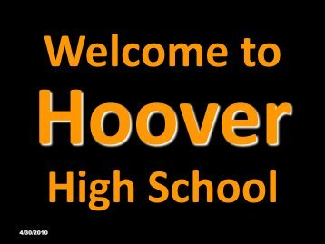 Welcome to Hoover High School - Hoover City Schools