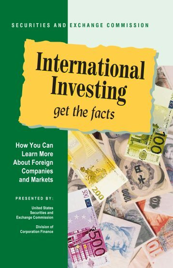 International Investing - Securities and Exchange Commission