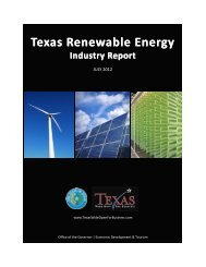 Texas Renewable Energy Industry Report - Office of the Governor ...
