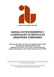 MANUAL DE PROCEDIMENTOS E CONTRATAÇÃO DE ... - IAB SP
