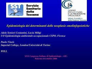 Epidemiologia dei determinanti delle neoplasie emolinfopoietiche