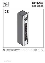 BDT 010-RC - D+H Mechatronic