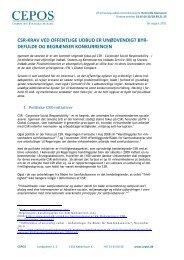 CSR-krav ved offentlige udbud er konkurrenceforvridende ... - Cepos