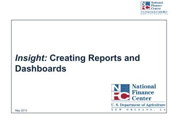 Insight: Creating Reports and Dashboards