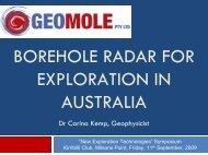 Borehole Radar - Sydney Mineral Exploration Discussion Group