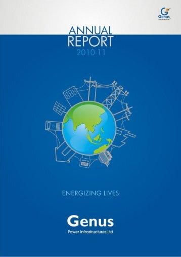 Annual Report (2010-11) - Genus Power Infrastructures Ltd