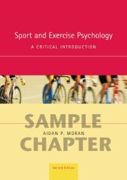 Sport and Exercise Psychology: A Critical introduction ... - Routledge