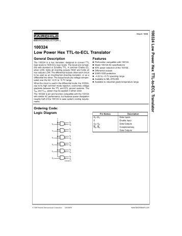 100324 Low Power Hex TTL-to-ECL Translator - Galileo